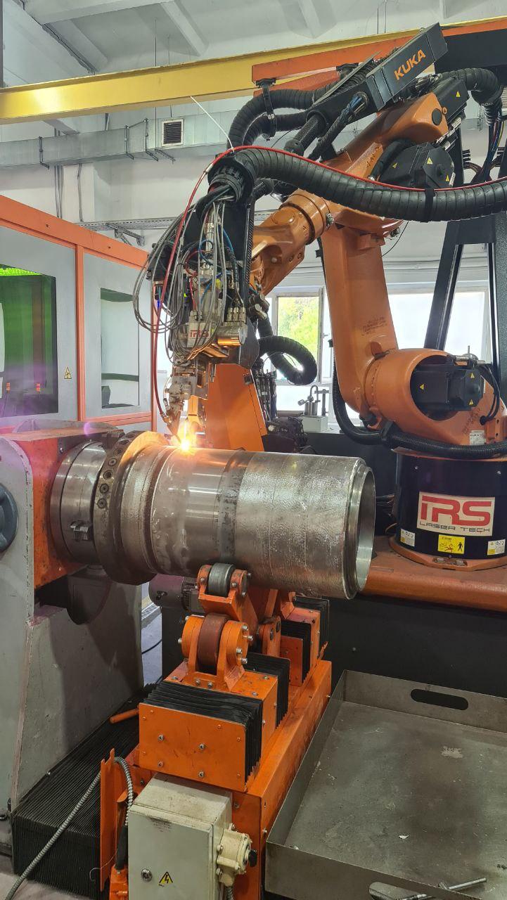 Лазерная наплавка деталей систем верхнего привода